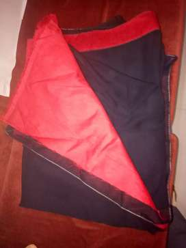 black  sari with red lining, new