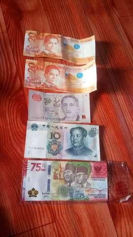 Borongan uang Kertas 4 negara