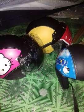 Helm bogo polos motif murah