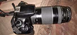 Canon 1300 d with dual lense, charger,bag,tripod