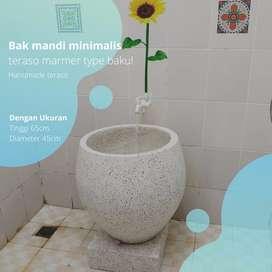 Bak mandi minimalis teraso marmer type bakul