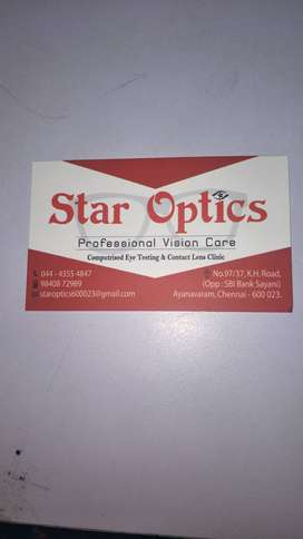 Wanted Experienced  opticals sales person