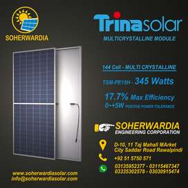Cost of Trina Solar PAnel, 345 Watts, With Warranty, With Documents.