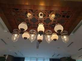 Lampu gantung hias klasik antik kuningan