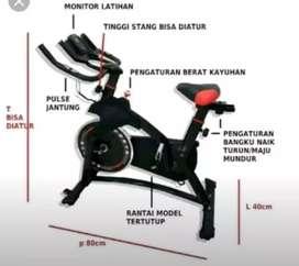 Alat fitness_sepeda olahraga-spinning bike new