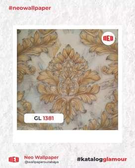 Promo Wallpaper Dinding vinyl interior terang mewah harga murah