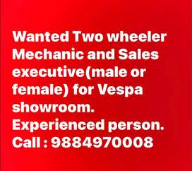 Two wheeler Mecahnic wanted