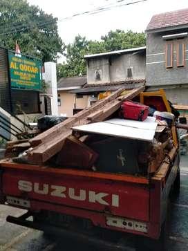Jasa Angkut & buang barangkal puing brangkal sampah prabotan daun dll