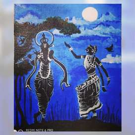 Hand made Acrylic Painting on Canvas