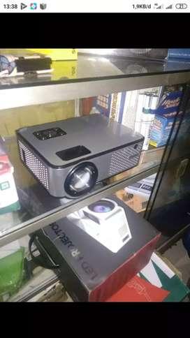 Led projektor Cherlux9 lgs bisa tv, usb, laptop, tv kbel, dvd