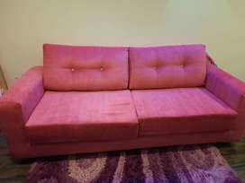 3 seater brand new sofa in pink