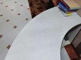 Half circle office counter