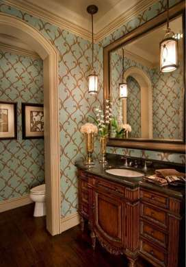 Powder Room Home Wallpaper