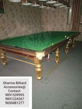 Snooker/Pool/Billiards table in steel cushion