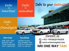 Book Taxi From Jalandhar to Delhi Rs. 4499/- only