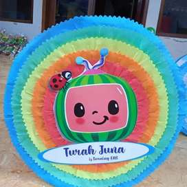 custom pinata permainan pesta pentung diameter 30 cm bentuk bulat