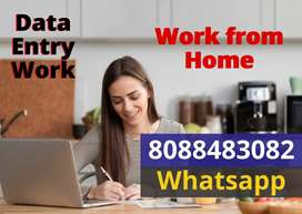Genuine Data Entry jobs. Work from Home. Earn weekly Rs.10,000/-