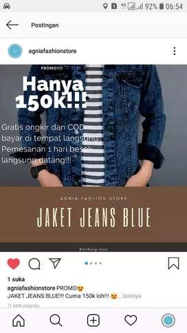 Jaket jeans Blue new