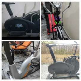 Manual treadmill running machine Elliptical cycle cycling exercise