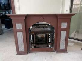 Fire place with heater
