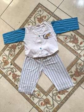 Stelan Baju Tidur Anak, baseball, bhn super duper lembut dan adem.2-3T