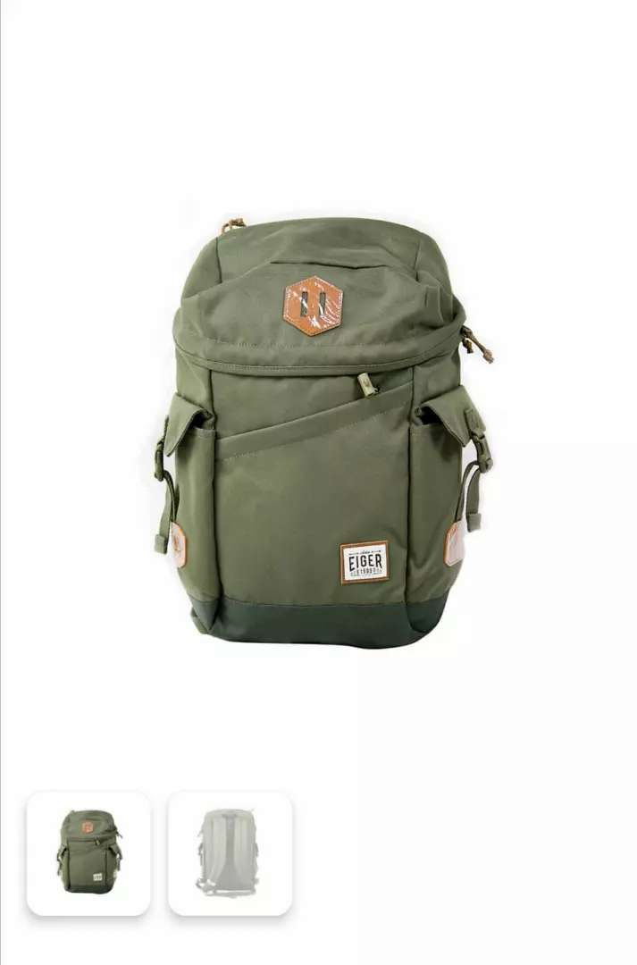 [Hot Deal] Tas Daypack Eiger Diario 2.0 Canvas 24L Olive no JWS TNF 0