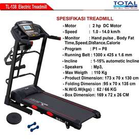 Alat Fitness Treadmill Elektrik TL 138
