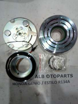 Magnetic Clutch, Pulley & Center Bearing AC Honda Civic Genio & Estilo