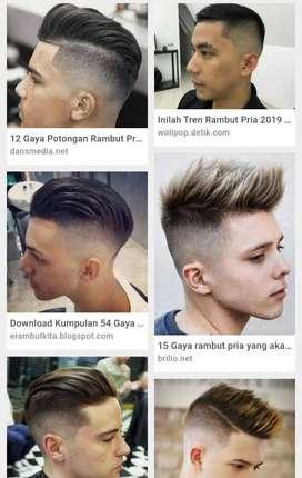 Di butuhkan karyiawan pangkas rambut