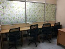 9 seater furnished office private cabin for rent near Paradise metro