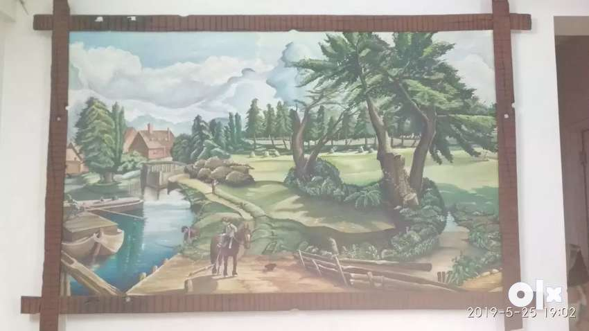 Wooden wall painting 0