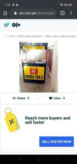 Karegar required for French fries stall