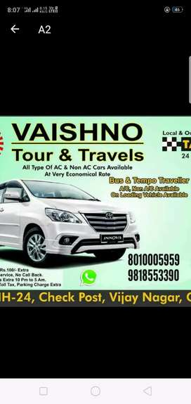 All types taxi a/c non a/c all India Turism