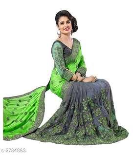 Siya stylish netted saree.