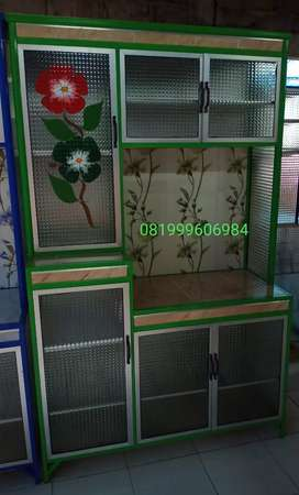 Harga promo Rak Piring 3 pintu afrika 105x45x170cm
