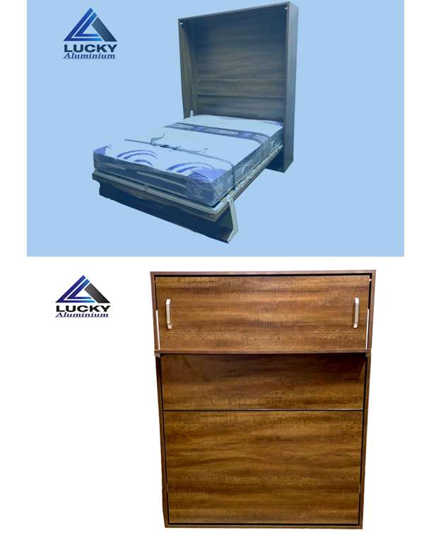 Double Bed Wall Bed Murphy Bed Folding Bed At LuckyHome.PK 0