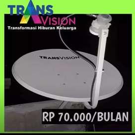Super murah Transvision HD resmi Bangli paket hemat 6 bulan rp420k