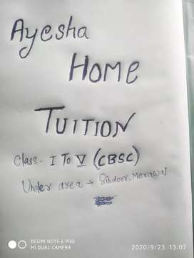 Home tuition( 799 months per student)