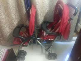 Baby Twin Stroller ( Pram for Two kids)