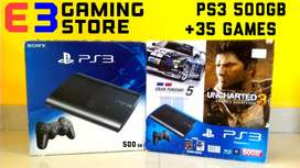 Brand New PS3 Super Slim 500 GB with 35 Exclusive games