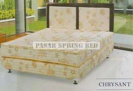 Springbed PROMO Kasur Uniland Standard Cream Chrysant 100x200 Set