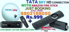 DHAMAKA OFFER TATA SKY NEW HD CONNECTION WITH AMAZON FIRE STICK Rs.999