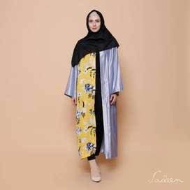 Sadeen Abaya - OUTER (FLORAL) / BUNGA | Atasan Rompi Cardigan Muslimah