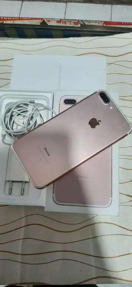 jual hp iphone 7+ 128 ibox mulus  bisa tt  hub/wa