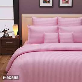 Striped Cotton Double Bed Sheet(ONLINE PRODUCT)