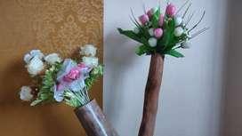 Rustic Flower Vase from Wood