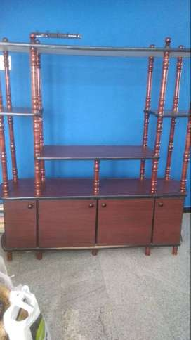 Tv unit with showcase set