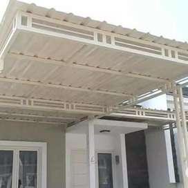 kanopi atap galvalume rangka besi awet dan bergaransi