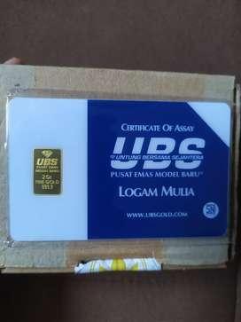 Emas batangan ubs 2 gram
