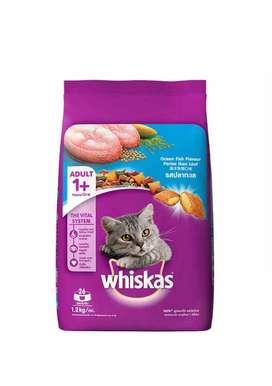 wiskas cat food1.2kg. 5qty